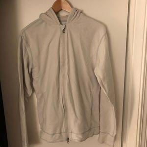 Heavy-weight zip hoodie.
